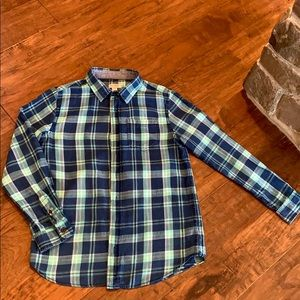 Boys Cat and Jack Button Down Plaid Long Sleeve